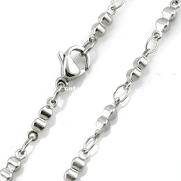 "$enCountryForm.capitalKeyWord Canada - 3mm Width 316L Stainless Steel Handmade Men's Women`s Solid Gourd Shaped Bar Linked Chain Necklace (16""-22"" inches)"