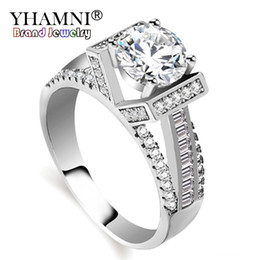 $enCountryForm.capitalKeyWord UK - YHAMNI Original Fashion Fine Jewelry CZ Diamond Rings 925 Sterling Silver Engagement Wedding Rings for Women KYRA02