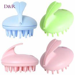 China Electric Cute Rabbit Head Massager Magic Shampoo Massage Comb Bath Massage Brush Scalp Massager Head Hair Care Vibrating Brush suppliers