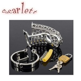 Serpiente De Servidumbre Baratos-Snake-shaped Male Chastity Device Cock Cage Metal Chastity Cage Pene Bondage BDSM Juguetes sexuales para hombres