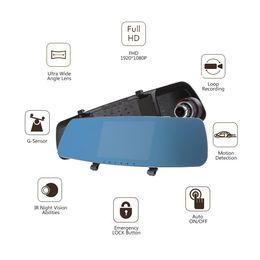 $enCountryForm.capitalKeyWord NZ - FHD Dual Screen Rearview Mirror Car DVR Recorder Dash Camera IR Night Vision Abilities Loop Recording G Sensor Motion Detection PZ909A