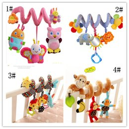 $enCountryForm.capitalKeyWord Australia - Wholesale- 4 Styles Musical Car bed crib Hanging Bell Newborn Baby Educational Rattles Mobile toys for Baby 0-12 months Plush Product