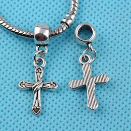 Antique Crucifix Pendant NZ - Antique Silver Vintage Cross Crucifix Charms Pendants For Bracelet Necklace Jewelry Making Findings Components DIY Accessories 100pcs Z212