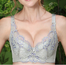 bra fat NZ - MM large size thin fat gather bra adjusting bra lace MM thin side close Furu underwear factory
