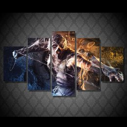 $enCountryForm.capitalKeyWord NZ - 5 Pcs Set Framed HD Printed Game Demon Art Picture Wall Art Canvas Print Room Decor Poster Canvas Modern Oil Painting