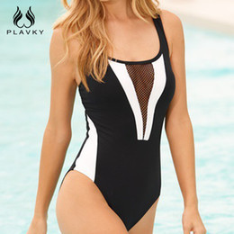 sexy plus size swim wear Australia - 2017 Sexy Black White Mesh Cut Out Bodysuit Monokini Swim Wear Bathing Suit Thong Plus Size Swimwear Women One Piece Swimsuit