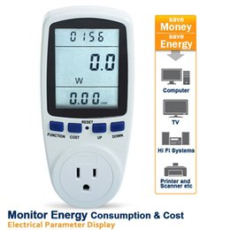 Discount energy outlets - Digital Power Meter LCD Display Voltage Current Power Factor Frequency Energy Display US Outlet Socket and Plug