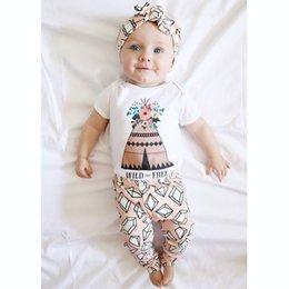 Cute Toddler Girl Rompers NZ - 2017 New Summer Baby Girl Clothing Sets Newborn Short Sleeve Floral Rompers+Diamond Harem Pants 2pcs Set Toddler Onesies Suit Infant Outfits