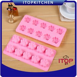 $enCountryForm.capitalKeyWord Canada - 5pcs lot Food Grade Silicone Cake Mold Cat Paw Soap Ice Cube Candy Chocolate Mold Jelly Pudding Mold Cookie Mould Tray Baking accessories