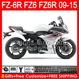 $enCountryForm.capitalKeyWord Australia - 8gifts For YAMAHA FZ6R 09 10 11 12 13 14 15 FZ6N FZ6 gloss white 89NO140 FZ-6R FZ 6R 2009 2010 2011 2012 2013 2014 2015 white black Fairing