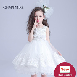 Chinese  childrens white dress flower dresses girls and birthday dress girl teen girls dresses high quality dress china online shopping supplier manufacturers