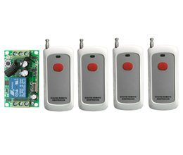 Wholesale DC12V A CH RF Wireless Remote Control System mm Receiver Transmitter new M red key