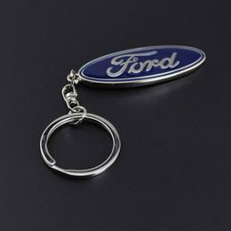 Ford métal 3D anneau porte-clés Logo de voiture porte-clefs en alliage de zinc métal Porte Llaveros Chaveiro pour Pour Ford Fiesta EcoSport accent ESCORT en Solde