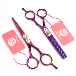 "$enCountryForm.capitalKeyWord Australia - Z1020 6"" 17.5cm Purple Dragon Laser High Quality Professional Human Hair Scissors Barbers' Scissors Cutting Thinning Scissors Style Tools"