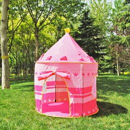 $enCountryForm.capitalKeyWord NZ - Foldable Pop Up Play Tent Kids Boy Prince Castle Playhouse Indoor Outdoor Folding Tent Cubby Play Houses Activities Toys
