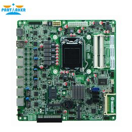 Discount intel motherboard lga1155 - Partaker H67SL B75 LGA1155 socket Industrial Firewall motherboards with 6 lan For Router Firewall Free Shipping