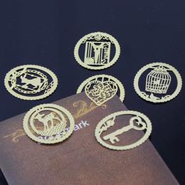 20 ШТ. Kawaii Металл Закладка Мода Birdcage Шесть Видов Зажимы для Книг Бумаги Школьные Канцелярские Товары Свадьба в подарок на Распродаже