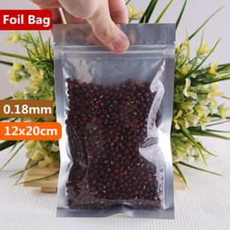 $enCountryForm.capitalKeyWord NZ - 12x20cm Translucent Packaging Smell Proof Bags Mylar Aluminum Foil Zip Lock Food Showcase Laminating Zipper Heat Seal Snacks Package Pouch