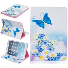 ipad mini smart case green NZ - Color Butterfly TPU Soft Holster for ipad mini 1 2 3 Flower Smart Cover case for IPAD mini3 cartoon stand Card back cover