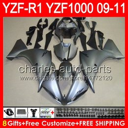 Silver black r1 fairing online shopping - 8gifts Body For YAMAHA YZFR1 YZF R1 gloss silver NO90 YZF YZF R YZF1000 YZF R1 silver black Fairing