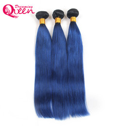 $enCountryForm.capitalKeyWord UK - T1B Ocean Blue Color Ombre Brazilian Straight Human Hair Weave 100% Ombre Brazilian Virgin Human Hair 3 Pcs Ombre Bundles Extensions