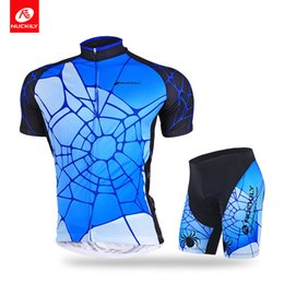 Jersey cycling short sleeve design online shopping - Nuckily New style of short sleeve spider man mens cycling jersey set Cool design with high quality men s short mountain set AJ232BK293