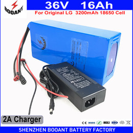 Discount lg li ion batteries - BOOANT Free Shipping 36V 16AH 800W Use Original LG 3200mAh 18650 cell E-Bike Li-ion Battery for Bafang Motor EU US Duty