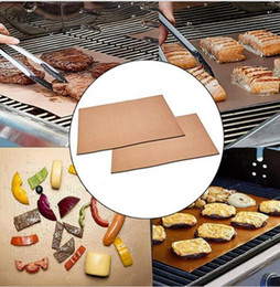 $enCountryForm.capitalKeyWord Canada - Barbecue Grilling Liner BBQ Copper Grill Mat Portable Non-stick Copper Chef Grill and Bake Mats Hiking Camping BBQ Pads Tool 33*40CM