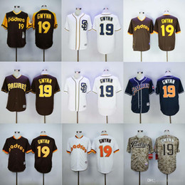 37e00731f ... Top Sale San Diego Padres Throwback Jerseys 19 Tony Gwynn White Blue  Jerseys Camo Double Stithed Mens ...