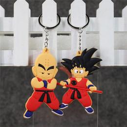$enCountryForm.capitalKeyWord Australia - 20pcs can pick Anime Dragon Ball Monkey Keychain Son Goku Super Saiyan Silicone PVC Keychain action figure pendant Keyring Collection toy
