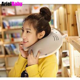 Foam shape toy online shopping - New Totoro Pillow Toys U Shape Neck Massage Foam Office Nap Cartoon Travel Doll Kawaii Gift for Kids Adult Birthday