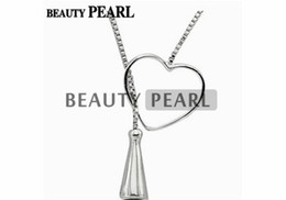 $enCountryForm.capitalKeyWord UK - 5 Pieces Sterling 925 Silver Box Chain Heart Pendant Mounting Necklace Jewellery Necklace Blank Settings for Pearls