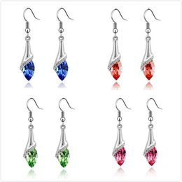 Red Swarovski Crystal Chandelier Earrings Online | Red Swarovski ...