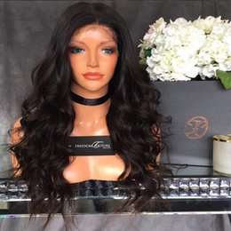 Full Hairline Lace Frontal Canada - Natural Hairline Lace Front Human Hair Wigs 8A Loose Wave Brazilian Full Lace Wigs Black Women Virgin Frontal Wig With Baby Hair