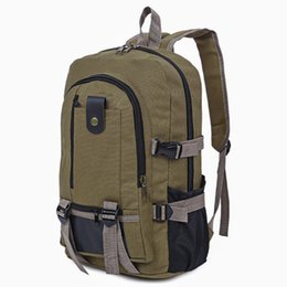 $enCountryForm.capitalKeyWord UK - Canvas Zipper Ladder Lock Outdoor Activity Portable Backpack for Men Outdoor Portable Backpack Backpack for Camping Hiking +B