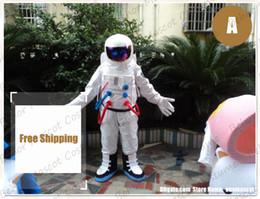 Großhandel spaceman maskottchenkostüm freies verschiffen erwachsene größe, billige hohe qualität karneval party Fancy plüsch gehen astronaut maskottchen kind größe.