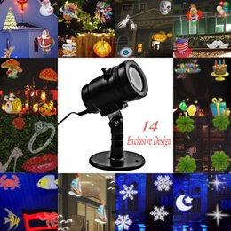 Wholesale 14 Pattern LED Projector Light Waterproof Landscape Lighting Indoor Wall Spotlight Laser Projection Lawn Lamp Christmas Wedding Party Lights