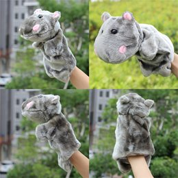 original toys for babies Canada - Original Cute Hippopotamus Hand Puppet Baby Children Game Playing Cartoon Animals Interactive Soft Doll Toy for Kids Gifts