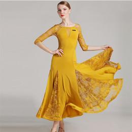Black flamenco dress online shopping - 2018 Black ballroom dress woman ballroom waltz dresses ballroom dance clothes waltz dance costumes spanish flamenco dress tango dancewear