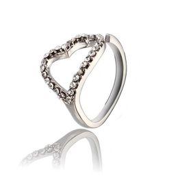 Alloy Ring Zircon Canada - Heart Shape Ring Rose Gold Plated Zircon gemstone ring Gemstone Jewelry Crystal Zircon wedding diamond engagement ring For Women ZR105