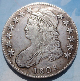 $enCountryForm.capitalKeyWord Canada - 1808 Capped Bust Half Dollars Copy Coins Free Shipping High Quality old style Copy coin Free shipping