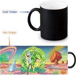 Discount magic mug gift - Wholesale- rick and morty Magic Mug Custom Photo Heat Color Changing Morph Mug 350ml 12oz Coffee Cup Beer Milk Mug Hallo