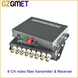 $enCountryForm.capitalKeyWord NZ - 1pair transmitter & receiver 8 channel video data fiber optic media converter with RS485 FC Single mode