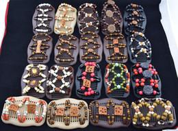 Горячие смешанные различные стили Magic Butterfly Wood / деревянные бисера Double Magic Fashion Women Hair Clip / Comb LC477