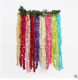 $enCountryForm.capitalKeyWord Australia - Wholesale 2m Wisteria Artificial Flower Wedding Party Banquet Wisteria Decorations Wall Ceiling Flower Decorations Free Shipping