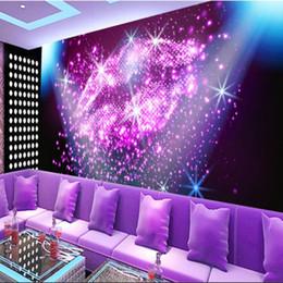 PurPle wallPaPer for bedroom walls online shopping - Customization photo Backgrounds D Wallpaper For Walls d Wallpaper Murals silk Non Woven For Living Room Purple glare crystal lip seal KTV