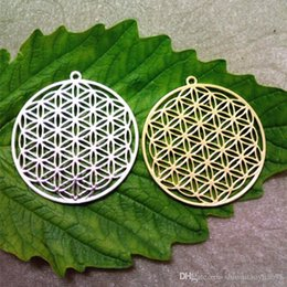flower life Canada - Drop shipping Silver Gold plated necklaces & pendants for women pendants Flower of life pendant to the window