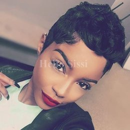 $enCountryForm.capitalKeyWord NZ - Short Straight Human Pixie Hair Wigs For Women Elegant with Baby Hair Trendy Brazilian Virgin cut Hair European Style