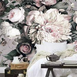 Large Print Floral Wallpaper Online Shopping