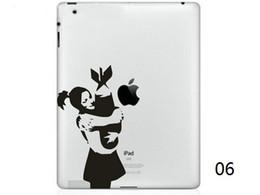 Caliente Originalidad Cartoon-2 series Vinilo Tablet PC Etiqueta Negro Piel de la etiqueta engomada para Apple iPad 1/2/3/4 / Mini Skins de ordenador portátil pegatina